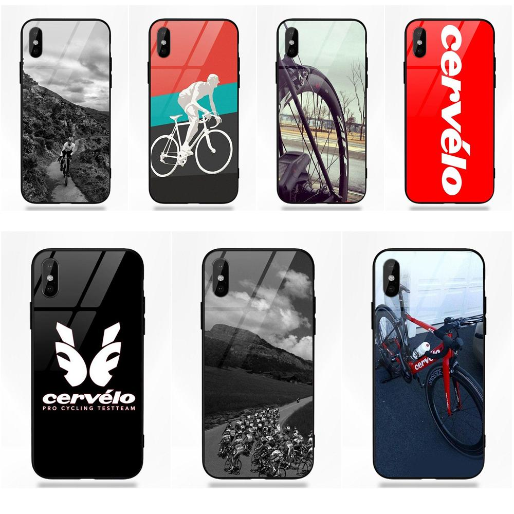 meet 09ae9 382f1 US $3.99 |For Cervelo Bike Team Bicycle Cycling Logo For Apple iPhone X XS  Max XR 5 5C 5S SE 6 6S 7 8 Plus-in Half-wrapped Case from Cellphones & ...