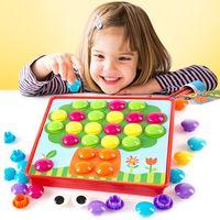 3D Mosaic Picture Puzzle Toys Creative Mushroom Composite Puzzles Nail Kit Button Art Composite Picture Puzzle