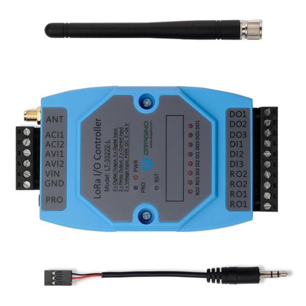 Pour Dragino LT-33222-L LoRaWAN LoRa i/o contrôleur sans fil pour l'agriculture intelligente domotique IOT EU868 US915 AU915 AS923 - 2