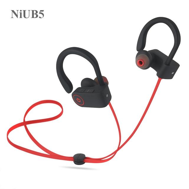 NiUB5 U8 Bluetooth 4.1 Sport Earphone Handfree Wireless Bluetooth Headset Earphones with Mic Sports Ear-hook Bluetooth Earphone