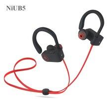 Niub5 U8 Bluetooth 4.1 спортивные наушники Handfree Беспроводной гарнитура Bluetooth Наушники с микрофоном спорт ухо-крюк bluetooth наушники