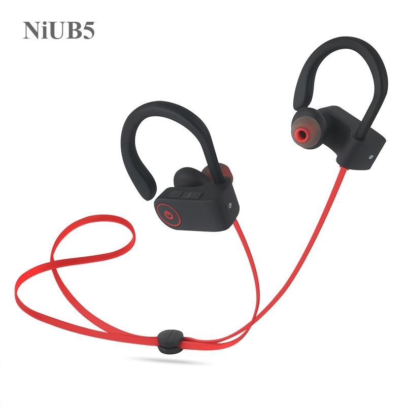 Niub5 u8 bluetooth 4.1 sport écouteur mains libres sans fil bluetooth casque écouteurs avec mic sport oreille-crochet écouteurs bluetooth