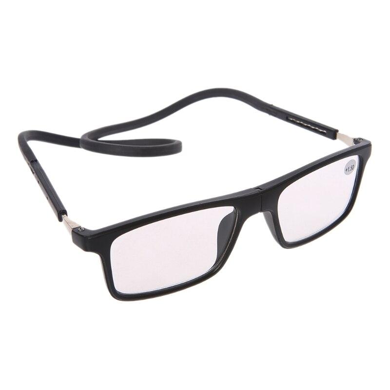 d8b373624b6a Magnet Presbyopic Reading Glasses Adjustable Hanging Neck Unisex +1.00 To  +4.00