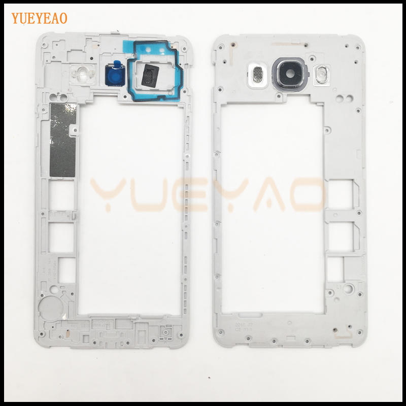 BRICOTOOL Mid Housing Frame Bezel Housing For Samsung Galaxy J7 J710 2016 Middle Frame Housing Chassis Plate
