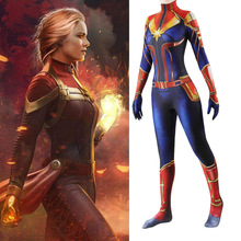 Captain Marvel Cosplay Costume Carol Danvers Superhero Halloween Costumes Ms. Marvel Jumpsuit Cosplay Carol Danvers Costume carol page 8