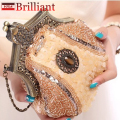 GUDANSEN Handmade Vintage women clutch Evening Bags Stone style Beaded Delicate Banquet Wedding Party bag purses and handbags