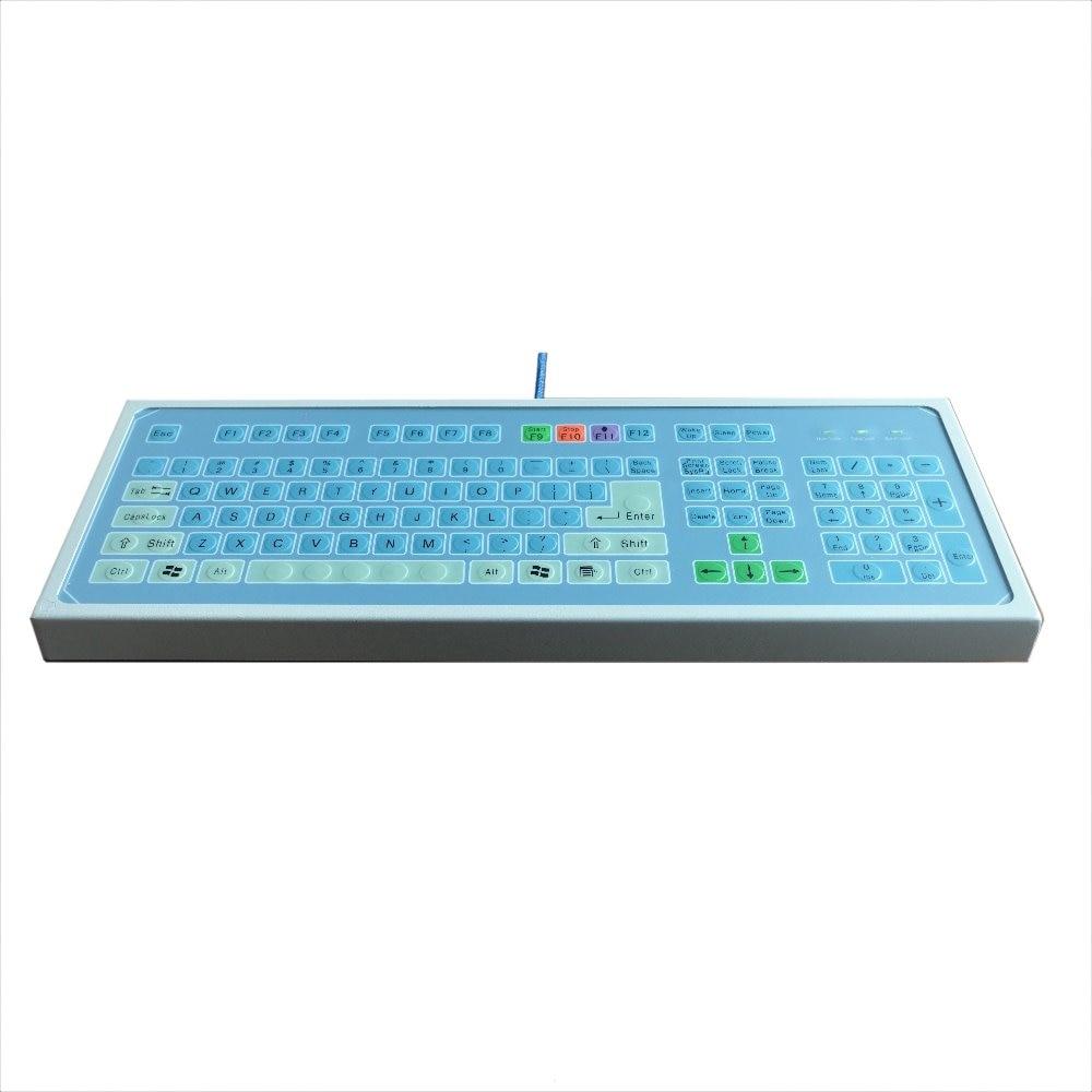 Industrial trackball keyboard embedded Stainless Steel Metal Kiosk ...