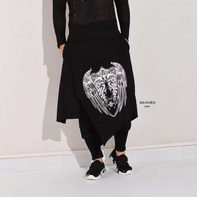 De Cantante Personalidad Negro Trajes 2017 Faux Dos Culottes Ropa Harem Los Pantalones Invierno Macho Hombres Grande Otoño Pieza gqq5USw
