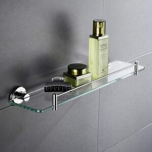 Высококачественная стеклянная полка для ванной и кухни, одноярусная настенная корзина для душа SUS 304 из нержавеющей стали