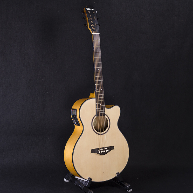 Guitar Acoustic Electric Steel-String Flattop Balladry Folk Pop 40 Inch Guitarra 6 String Yellow Light Cutaway Picea Asperata waterproof thicken 40 41 folk flattop balladry acoustic classical electric guitar bass bag case backpack bass accessories gig