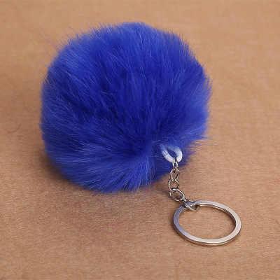 Пушистый помпон мех мяч брелок для женщин искусственный помпон из меха кролика брелок Шарм сумка брелок держатель подарки случайный отправлен
