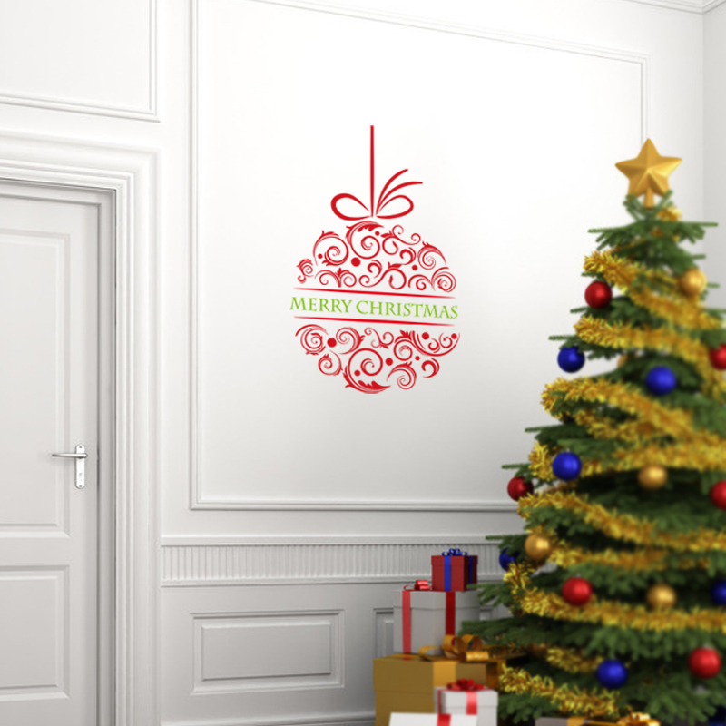 Christmas Wall Decals Removable.Us 4 54 9 Off Merry Christmas Vinyl Wall Stickers Removable Christmas Wall Decal Home Decoration Removable Decals Xmas24 In Wall Stickers From Home