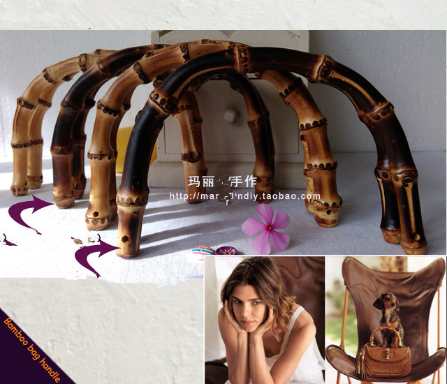 45% OFF Wholesale Bamboo Purse Handle DIY Bag Hanger Accessories Elegance Wooden Purse Frame Fashion Bamboo Bag Handle