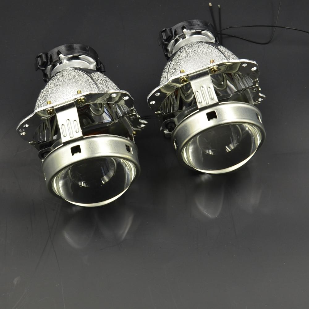 2pcs 3.0 inch car Bixenon hid Projector lens metal holder new version D1S D2S D3S D4S hid xenon kit headlight car headlight