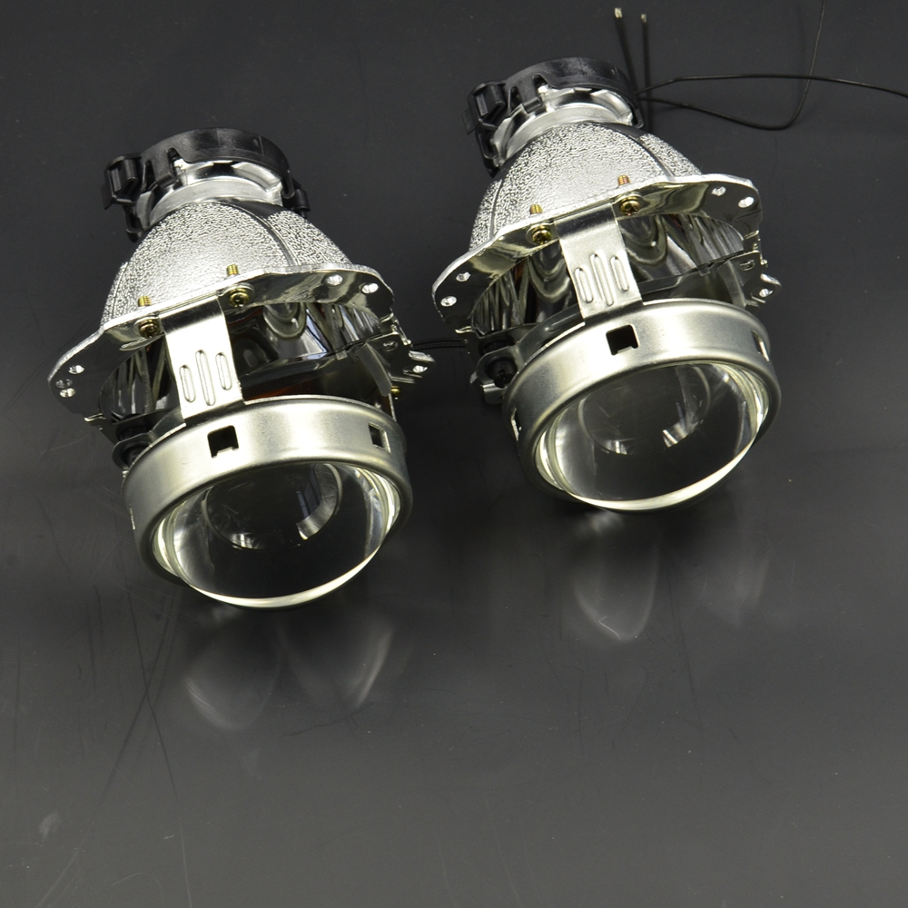3.0 inch car styling Bixenon hid Projector lens hella 6 new version metal holder retrofit d1 d2 d3 d4 bulb car assembly 2pcs 3 0 inch hella 5 bixenon hid projector lens with drl square angel eyes white led day running headlight retrofit modify d2s