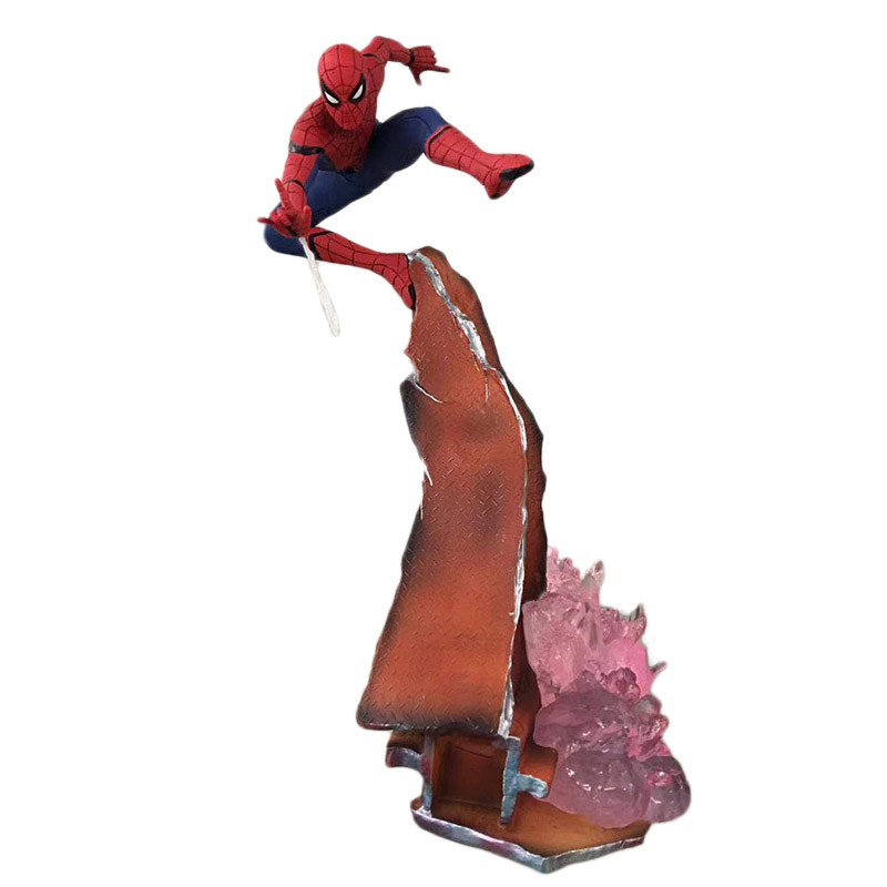 Cheapest Spider-Man Homecoming 1/10 Spider man figure Scene Hero Back Fly DOLL Action Collectible Statue Toy Figurine