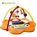Designer dos desenhos animados do bebê brinquedos educativos 0-1Year Infantil esteira do jogo do bebê jogo Tapete música Crawling Mat jogo ginásio leão cobertor Tapete