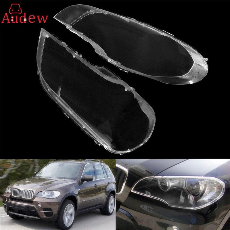 1 шт. влево/вправо прозрачный Корпус фар объектив оболочки крышка лампы для сборки BMW 2008-2013X5 e70 стайлинга автомобилей