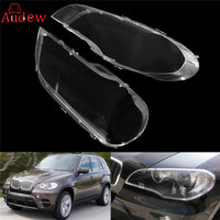 1Pcs Left Right Transparent Housing Headlight Lens Shell Cover Lamp Assembly For BMW 2008 2013 X5