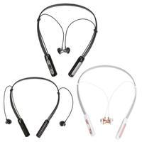 Neckband sem fio Bluetooth Na Orelha Auriculares Fone de Ouvido Estéreo Esporte fone de Ouvido Bluetooth Fone De Ouvido Chamada Handsfree com Microfone