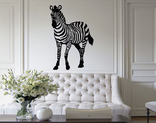 Zebra Wandtattoo Afrikanische Safari Tiere Aufkleber Kids Nursery ...