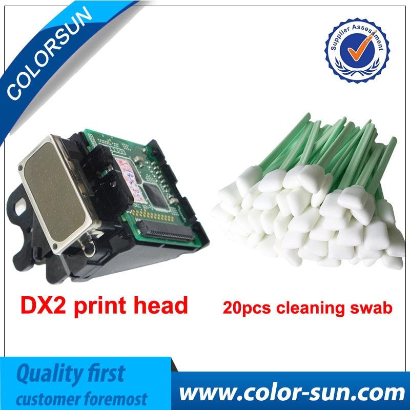 Original DX2 Solvent printhead with 20 pcs Swab Free for Epson 1520k pro7000 3000 9500 for roland SJ500 SJ600 9000 Printhead for epson dx2 print head color genuine mimaki jv2 roland fj40 42 mutoh for epson pro 3000 7000 7500 9000 9500etc