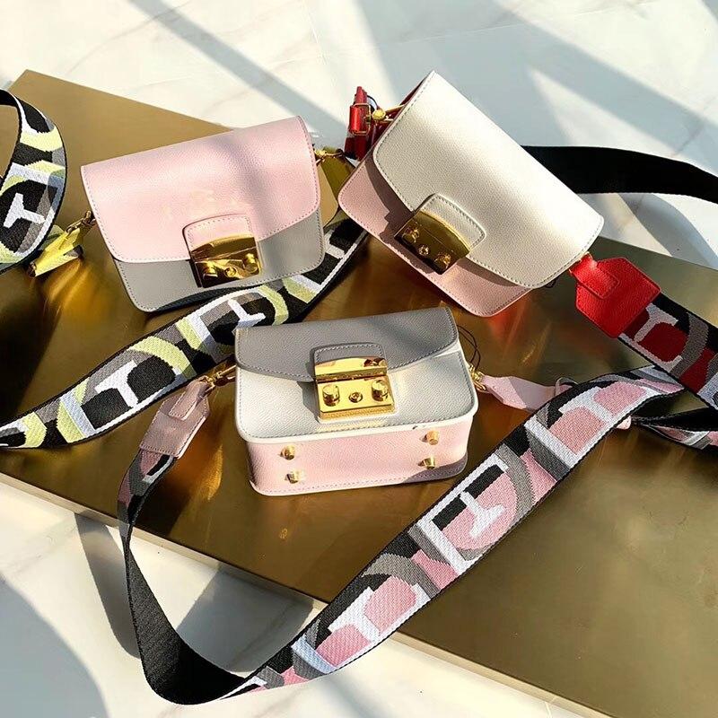 Bagaj ve Çantalar'ten Üstten Saplı Çanta'de Lüks Ünlü Marka tasarımcı çantası Moda Hakiki gerçek deri lady patchwork omuz çantaları Kadın Çanta messenger crossbody'da  Grup 1