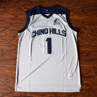 MM MASMIG Lamelo Ball 1 Chino Hills High School Basketball Jersey Stitched Gray
