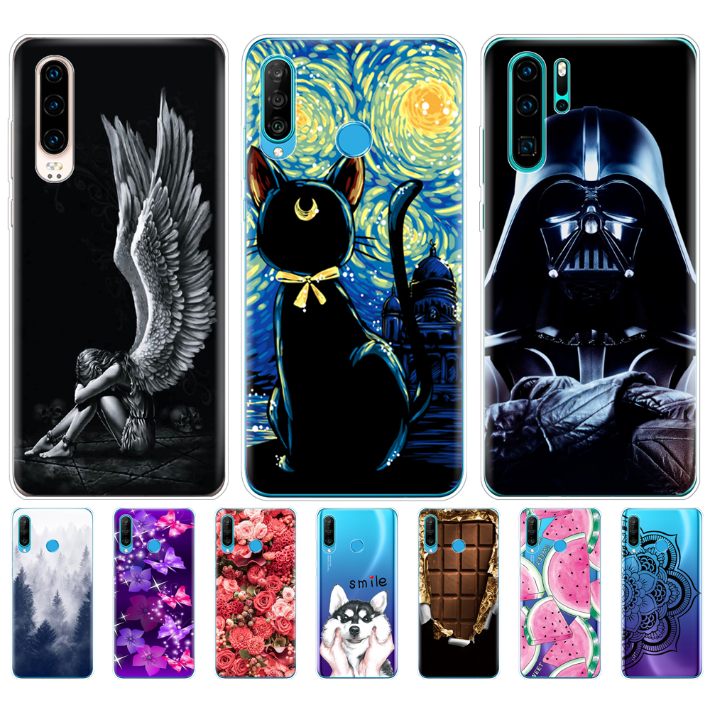 For Huawei P30 Pro Case Huawei P30Pro Case soft Silicon TPU Phone Cover On Huawei P30 Pro VOG-L29 ELE-L29 P 30 Lite coque bumper