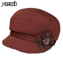 #3234 2017 Весна Осень шапочки Casquette Touca feminina Шляпы для дамской одежды Среднего возраста homme Капот Кости masculino