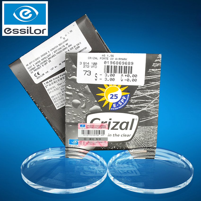 Essilor Crizal Clear Lenses Myopic Astigmatism 1.56 1.61 1.67 1.74 Nearsighted Glasses Lenses Prescription Customize 1 Pair