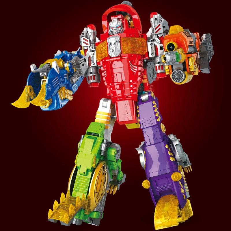Dragon Ranger Megazord Action Figure Transformation Robot Alloy Dinosaur Deformation EVA Soft Bullet Gun Children Gifts Boy Toys