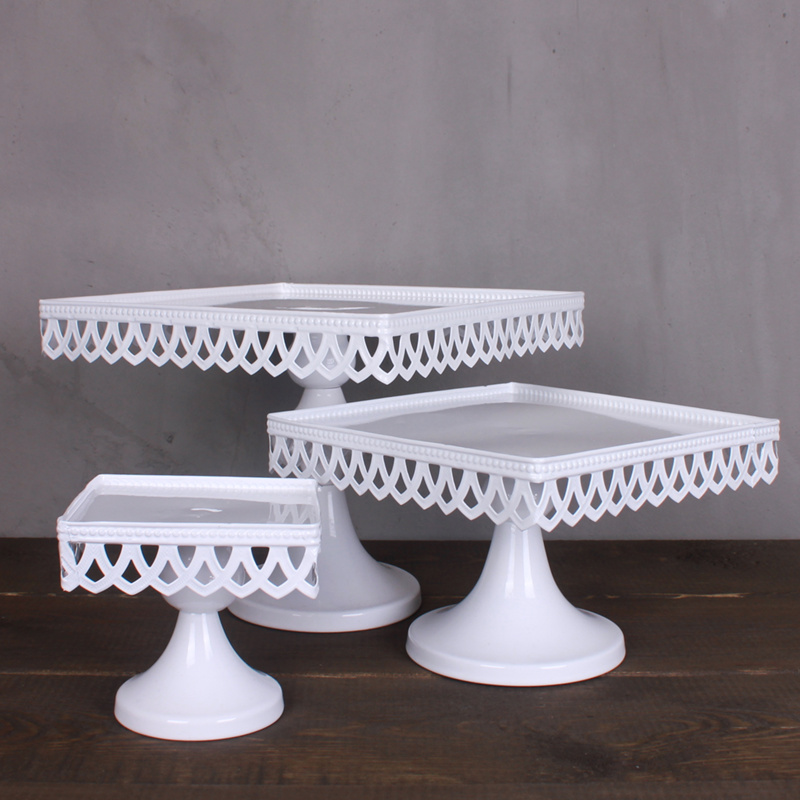 Awesome Fashion Wedding Dress Props Square Cake Pan Tall Iron Cake Rack Fruit Plate  Mug Up Pallet/ Cake Stand In Stands From Home U0026 Garden On Aliexpress.com ... Design Inspirations
