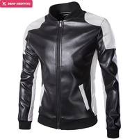 Motorcycle Leather Jackets Men Autumn Winter Leather Clothing Men Leather Jackets Male white casual Coats Brand Plus Size Y668