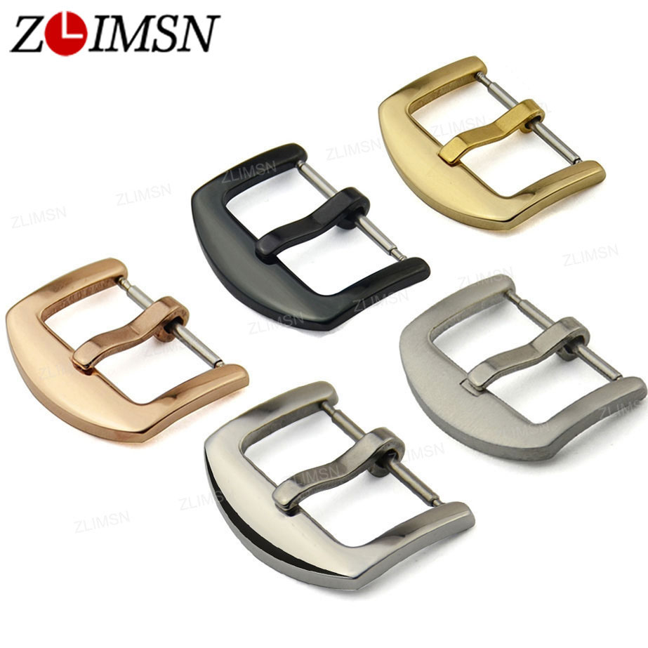 Solid Scrub Stainless Steel Brushed Black Gold Silvery Rose Gold Finished Watch Band Clasp Buckle Watchbands 18/20mm 24mm 26mm
