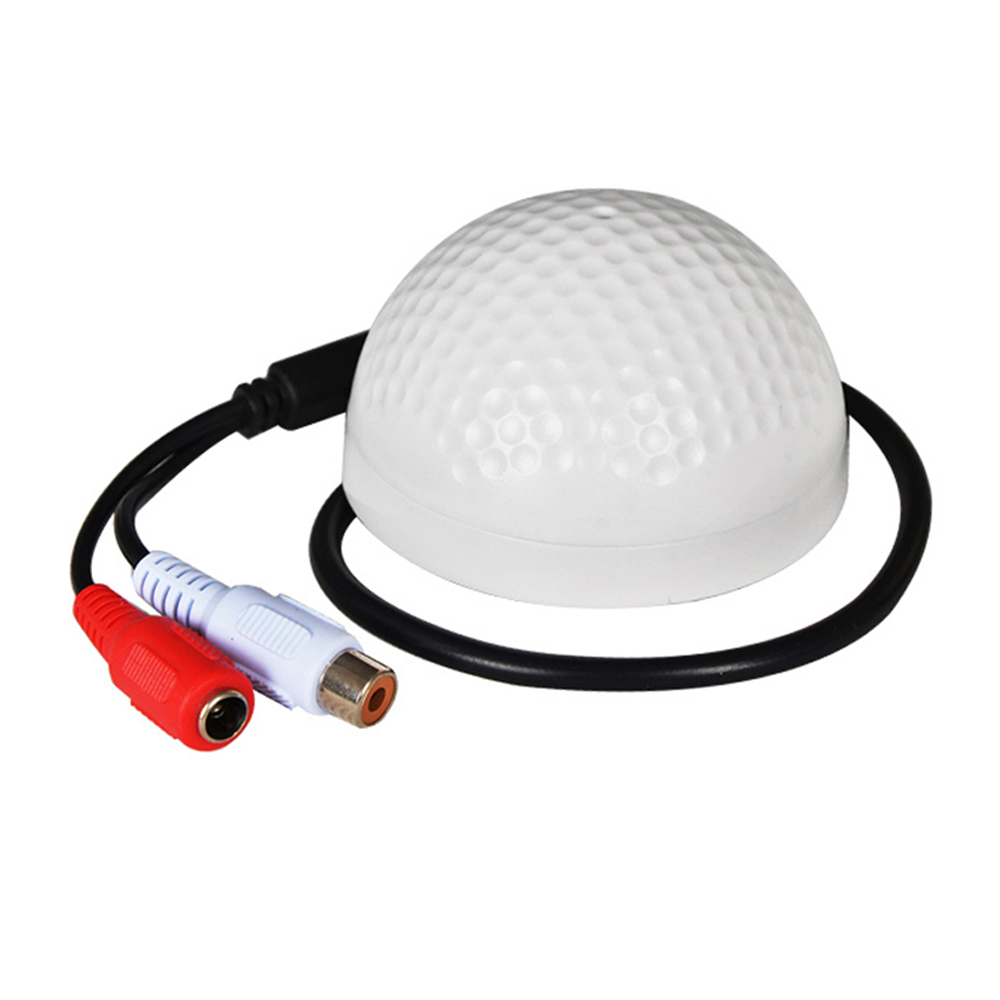 YiiSPO Hot Selling CCTV Microphone Golf Shape audio Pickup Device High Sensitivity DC12V audio Monitoring sound listening device-in CCTV Microphone from Security & Protection