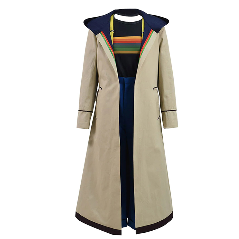 Doctor Who Cosplay Costume Jodie Whittaker Trench Coat outwear Outfit movie tv jacket COSDADDY