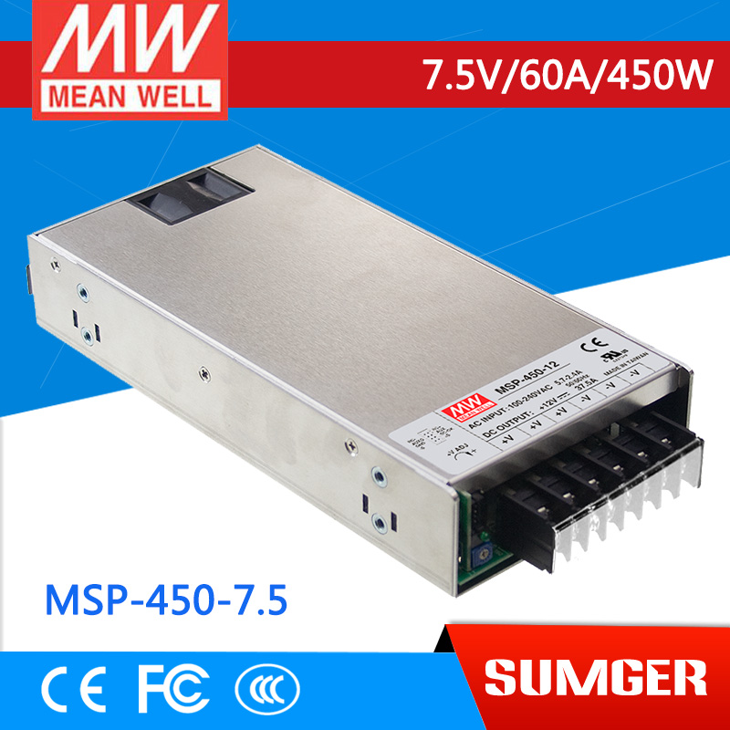 1MEAN WELL original MSP-450-7.5 7.5V 60A meanwell MSP-450 7.5V 450W Single Output Medical Type Power Supply