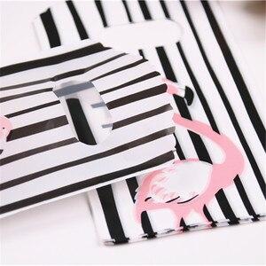Image 5 - 2019 новые стильные черно белые полосатые мешочки оптом 50 шт./лот 9*15 см Высококачественная Роскошная маленькая подарочная упаковка с фламинго