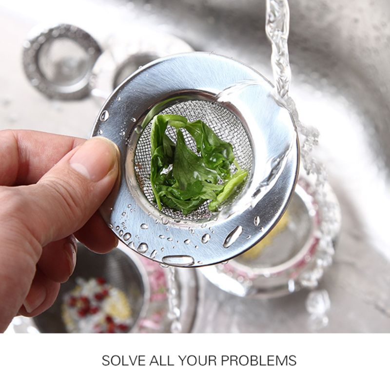 Universal Stainless Steel Sink Strainer Filter Trap Bathtub Drain Hole Hair Catcher Stopper Waste Screen Large Wide Rim