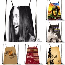 Custom Neil Young Drawstring Backpack Bag Cute Daypack Kids Satchel Black Back 31x40cm 180531 04 65