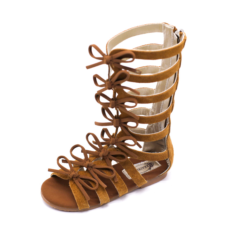 Brown Gladiator Shoes