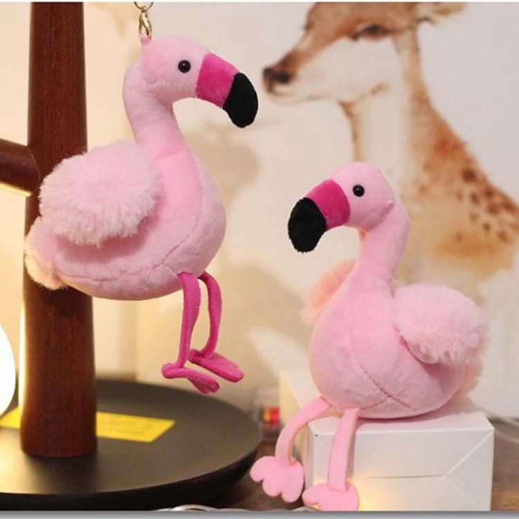 1 Pcs 14 cm Flamingo Pássaro Chaveiro De Pelúcia Stuffed Animal Collectible  Macia Pelúcia Boneca de 9378937578a64