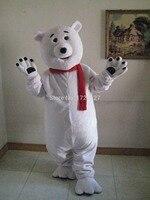 Талисман белый медведь белый медведь костюм талисмана обычай необычные костюмы аниме косплей mascotte фантазии костюм платье карнавал