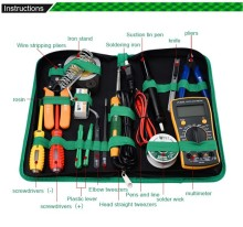 16 in 1 Household Profession Multi-purpose Repair Tool Set With Soldering Iron Digital Mulimeter For Laptop PC Tablet