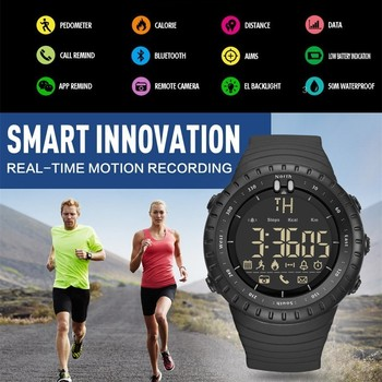 GIMTO Smart Watch Men Bluetooth Pedometer Stopwatch Digital LED Electronics Sport Watches For Men Smartwatch relogio masculino