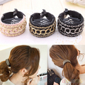Hot Fashionable Luxury Cute Women Gold Chain Hair Clip Hair Barrette Ponytail Holder 2MWT 5PY2