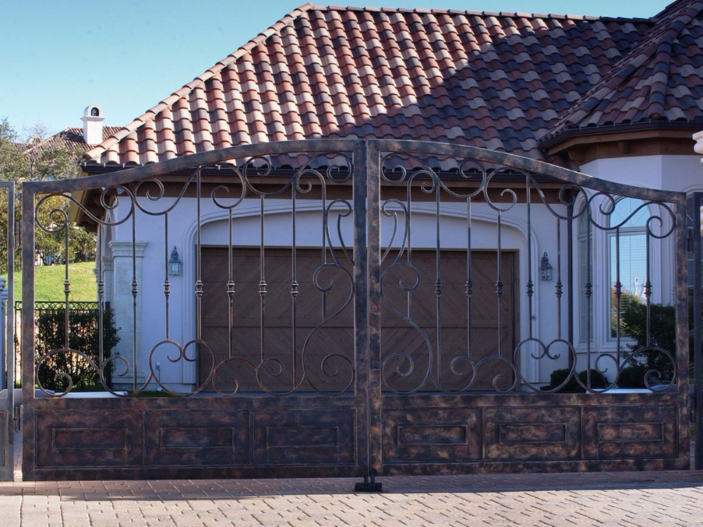 Handmade Top Villa Wrought Iron Gate One Stop Shipping To USA Hench-lg8