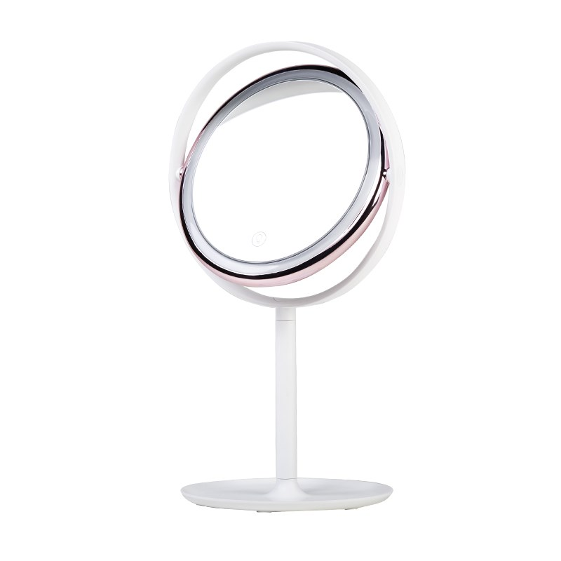 LED cosmetic mirror Vanity lights portable beauty mirror lamp dormitory table decoration lamp girl princess dressing mirror classic world pink princess mirror wooden toy female baby child pretend play vanity dressing table toys furniture for girl