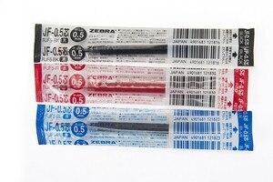 Image 2 - Zebra JF 0.5/JF 0.4 12pcs/lot Gel Refills for Zebra Sarasa Black/Blue/Red Writing Supplies
